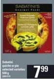 Sabatini Quiche Or Pie - 500 g