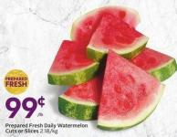 Prepared Fresh Daily Watermelon Cuts or Slices