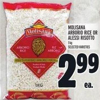 Molisana Arborio Rice or Alessi Risotto