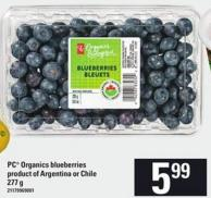 PC Organics Blueberries - 277 G