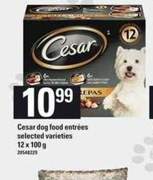 Cesar Dog Food Entr'es - 12 X 100 g