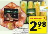 Sweet Vidalia Onions Or Sweet Corn