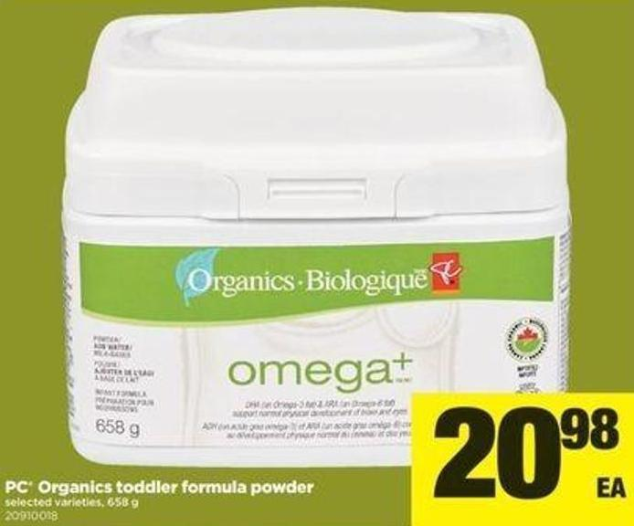 PC Organics Toddler Formula Powder - 658 G