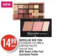 Maybelline New York Eyeshadow - City Mini or Contour Palette
