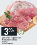 Pork Sirloin Chops Or Roast