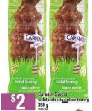 Carnaby Sweet Solid Milk Chocolate Bunny - 350 G