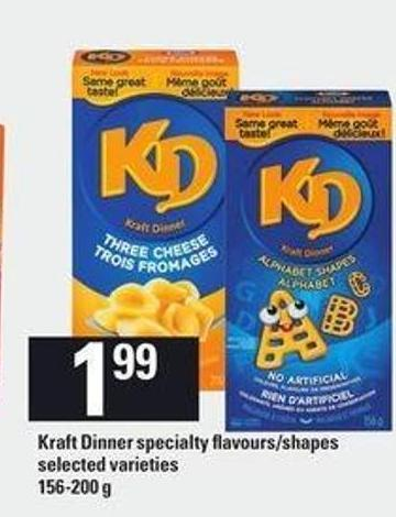 Kraft Dinner Specialty Flavours/shapes - 156-200 g