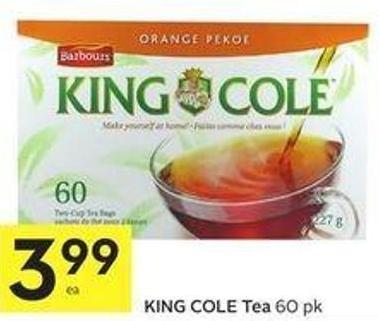 King Cole Tea 60 Pk