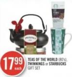Teas Of The World - Twinnings or Starbucks Gift Set (80's)
