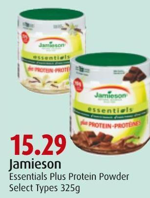 Jamieson Essentials Plus Protein Powder