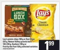 Lay's Potato Chips - 180 G Or Sun Chips - 225 G - Nature Valley Granola Bars 130-230 G - Gushers - 138 G Or Fruit By The Foot - 128 G