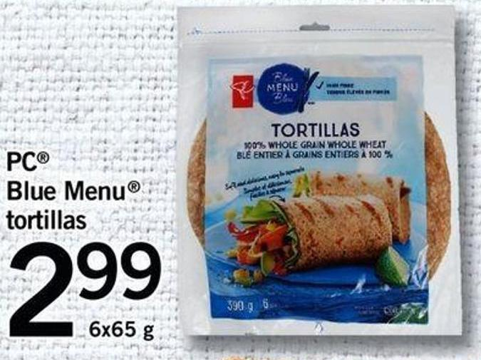 PC Blue Menu Tortillas.6x65 G