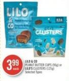 Lilo & Co Peanut Butter Cups (96g) or Lilo's Clusters (125g)