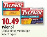 Tylenol Cold & Sinus Medication