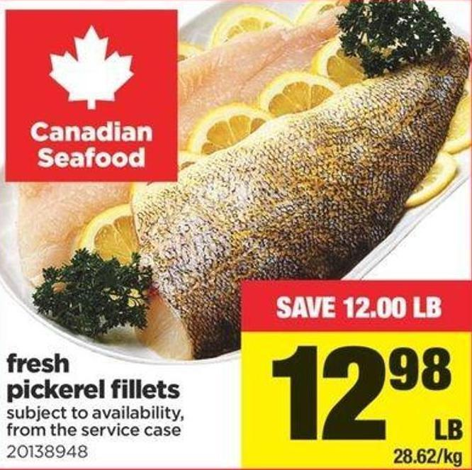 Fresh Pickerel Fillets