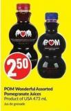 POM Wonderful Assorted Pomegranate Juices Product of USA 473 mL
