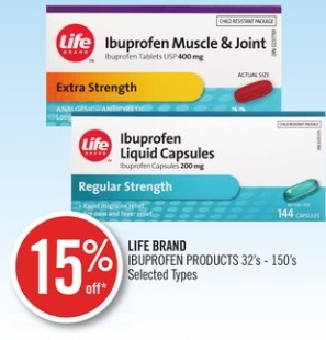 LIFE BRAND IBUPROFEN PRODUCTS 32's - 150's