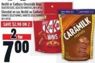 Nestlé Or Cadbury Chocolate Bags