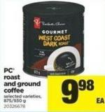 PC Roast And Ground Coffee - 875-930 g