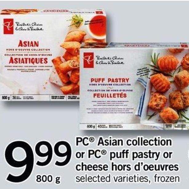 PC Asian Collection Or PC Puff Pastry Or Cheese Hors D'oeuvres - 800 G