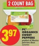 PC Organics Sweet Peppers - 2 Count Bag