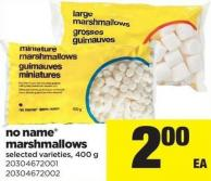 No Name Marshmallows - 400 g