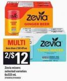 Zevia Mixers - 6x222 mL
