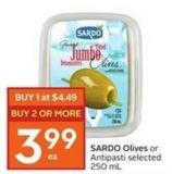 Sardo Olives or Antipasti Selected 250 mL