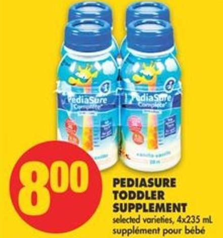 Pediasure Toddler Supplement - 4x235 Ml