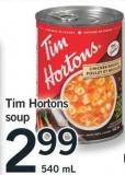 Tim Hortons Soup