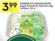 Kimberley's Bakeshoppe Sugar Frosted St. Patrick's Day Cookies 383 g