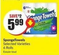 Spongetowels Selected Varieties 6 Rolls
