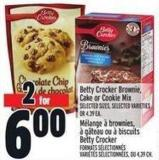 Betty Crocker Brownie - Cake Or Cookie Mix