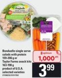 Bonduelle Single Serve Salads With Protein - 159-206 G Or Taylor Farms Snack Kits - 163-198 G