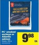 PC Smoked Sockeye Or Atlantic Salmon - 150 g