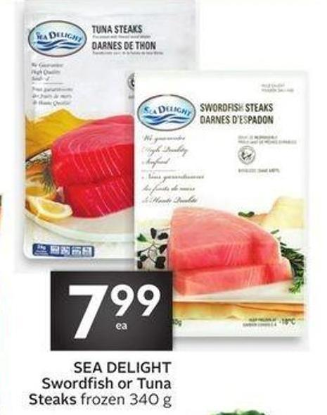 Sea Delight Swordfish or Tuna Steaks