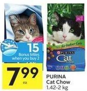 Purina Cat Chow 1.42-2 Kg - 15 Air Miles Bonus Miles