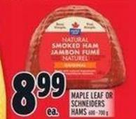 Maple Leaf Or Schneiders Hams 600-700 g
