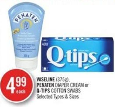 Vaseline (375g) - Penaten Diaper Cream or Q-tips Cotton Swabs