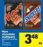 Mars Chocolate Multipack - 4's