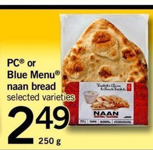 PC Or Blue Menu Naan Bread - 250 G
