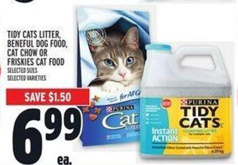 Tidy Cats Litter - Beneful Dog Food - Cat Chow Or Friskies Cat Food