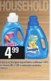 Fleecy Or Snuggle Liquid Fabric Softener - 1.47 L Or Sheets - 80's/120's