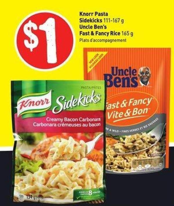 Knorr Pasta Sidekicks 111-167 g Uncle Ben's Fast & Fancy Rice 165 g