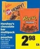 Hershey's Chocolate Bar Multipack 4's Or Pouches - 156-290 g