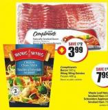 Compliments Bacon 500 g Wong Wing Entrées Frozen 400 g