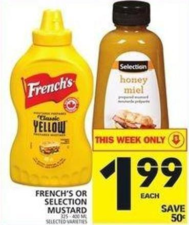 French's Or Selection Mustard
