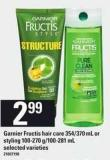 Garnier Fructis Hair Care 354/370 Ml Or Styling 100-270 G/100-281 Ml