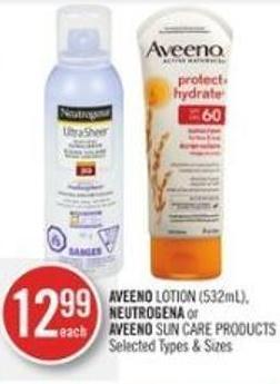 Aveeno Lotion (532ml) - Neutrogena or Aveeno Sun Care Products