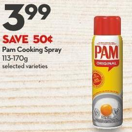 Pam Cooking Spray 113-170g
